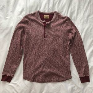 Red Lucky Brand three button thermal